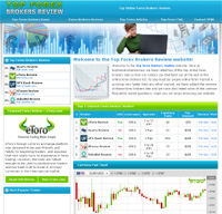 Forex website template free